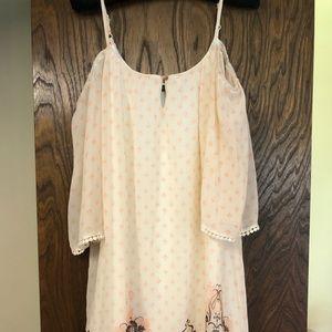 Cream, flowy dress
